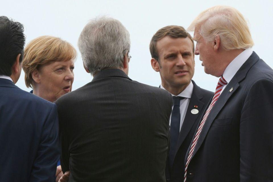 Trump et les dirigeants européens.